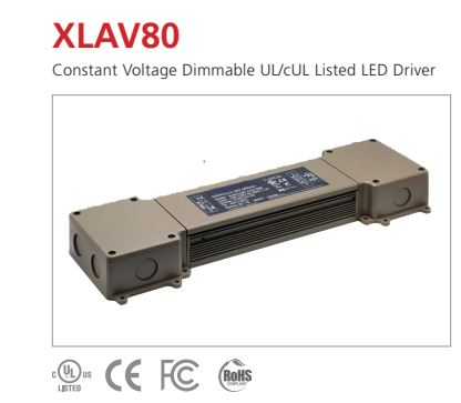 XLAV80 Constant Voltage Dimming LED Driver
